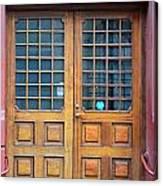 Double Wood Door Iceland Canvas Print