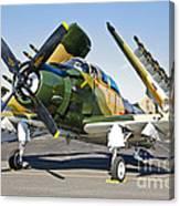 Douglas Ad-5 Skyraider Attack Aircraft Canvas Print