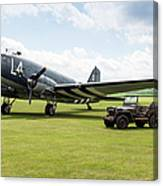 Douglas C-47a Skytrain Ready For D-day Canvas Print