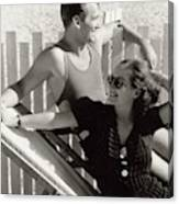Douglas Fairbanks Jr. With Joan Crawford Canvas Print