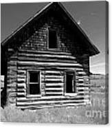 Douglas Lake Homestead Black And White II Canvas Print