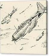 Douglas Sbd-4 Dauntless  Canvas Print