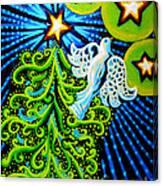 Dove And Christmas Tree Canvas Print