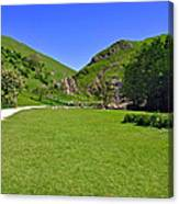 Dovedale - Stepping Stones Area Canvas Print