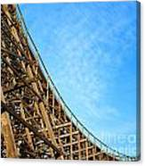 Down A Wooden Roller Coaster Ride Canvas Print