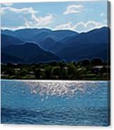 Down By The Lake Digital Art Canvas Print