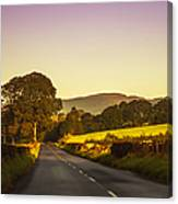 Down By The Road. Scotland Canvas Print