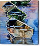 Down East Dories At Dawn Canvas Print