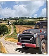 Down On The Farm - International Harvester S-100 Canvas Print