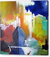 Down The Hudson Canvas Print