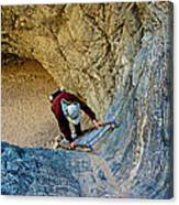 Down The Ladder In Big Painted Canyon Trail In Mecca Hills-ca  Canvas Print