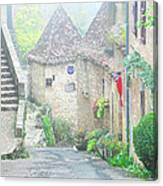 Down The Lane In St Cirq Lapopie Canvas Print