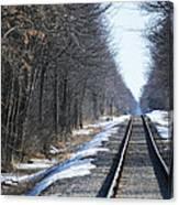 Down The Rails Canvas Print