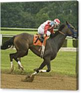 Down The Stretch Canvas Print