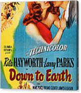 Down To Earth, Us Poster Art, From Left Canvas Print