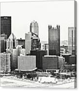 Cold Winter Day In Pittsburgh Pennsylvania Canvas Print