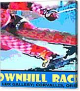 Downhill Racer Canvas Print