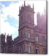 Downton Abbey In A Ray Of Sunlight Canvas Print