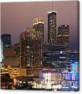 Downtown Atlanta Skyline At Dusk Canvas Print