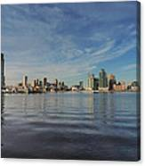 Downtown Baltimore And Harbor East Skylines Canvas Print