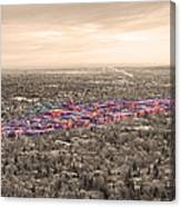 Boulder Colorado  Twenty-five Square Miles Surrounded By Reality Canvas Print