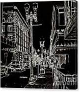 Downtown By Angelia Canvas Print