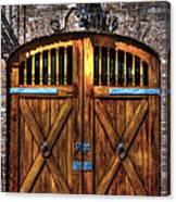 Downtown Charleston Sc Doors Canvas Print
