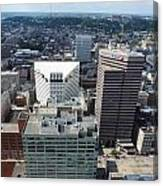 Downtown Cincinnati Form The Top Of Karew Tower 3 Canvas Print