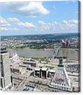 Downtown Cincinnati Form The Top Of Karew Tower 5 Canvas Print