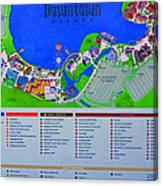 Disney Florida Map.Downtown Disney Florida Map Classic Canvas Print Canvas Art By