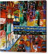 Downtown Friday Night Canvas Print