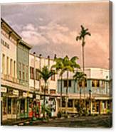 Downtown Hilo Sunday Morning Canvas Print