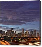 Downtown Houston After The Storm Canvas Print