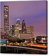 Downtown Houston Texas Skyline Beating Heart Of A Bustling City Canvas Print