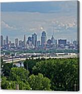 Downtown Kansas City From The Northland Canvas Print