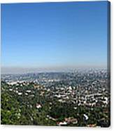 Downtown La From Griffith Observatory Canvas Print