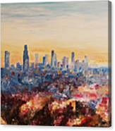 Downtown Los Angeles At Dusk Canvas Print