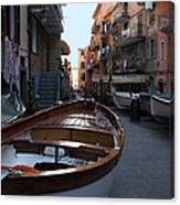 Downtown Manarola Canvas Print