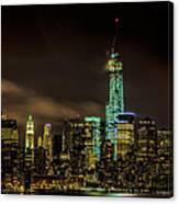 Downtown Manhattan At Night Canvas Print
