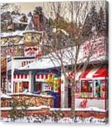 Patsy's Candies In Snow Canvas Print