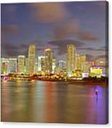 Downtown Miami And Aaa Canvas Print
