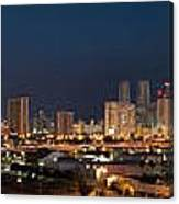 Downtown Miami Skyline At  Canvas Print