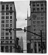 Downtown Nashville In Black And White Canvas Print