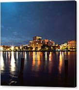 Downtown On The River Canvas Print