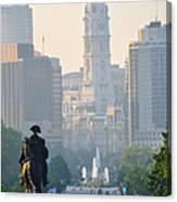 Downtown Philadelphia - Benjamin Franklin Parkway Canvas Print