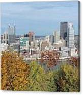 Downtown Pittsburgh From Mount Washington 4 Canvas Print