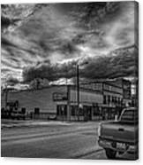 Downtown Sandpoint In Infrared 2 Canvas Print