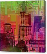Downtown Seattle Cubed 1 Canvas Print