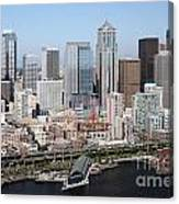 Downtown Seattle Washington City Skyline Canvas Print