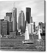 Downtown Skyline Of Toronto On Canvas Print